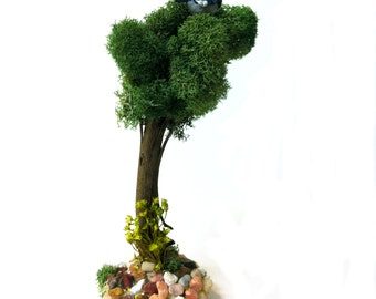 Miniature Fairy Garden Tree, Terrarium Supply, Dollhouse Accents