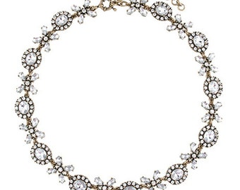 Crystal Love XOXO Statement Necklace