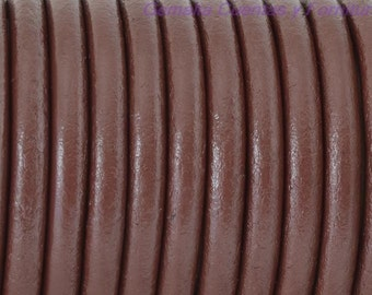 6 FEET Brown 4.5mm Round Leather cord, finding, jewelry supplies,