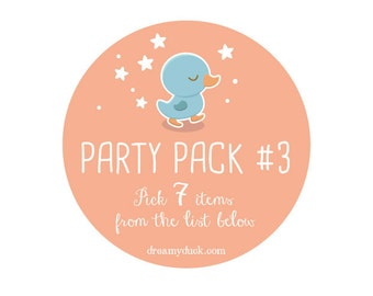 Printable Party Package 3: PICK SEVEN