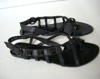 NAUGHTY MONKEY black sandals size 9 1/2