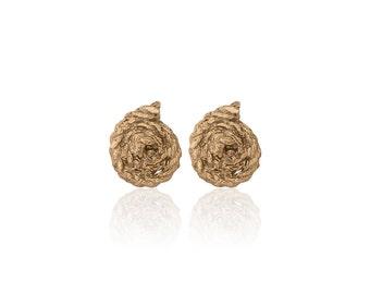 Rope Coil Stud Earrings