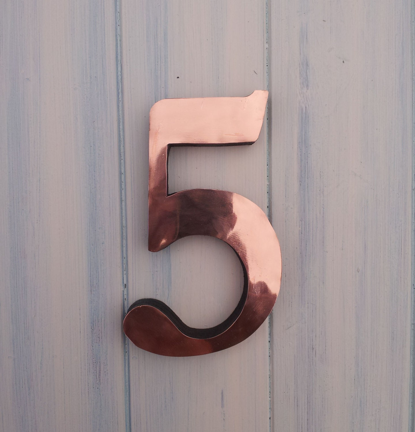 Large copper house numbers 3d 9 12 15 high in garamond for Large 3d numbers