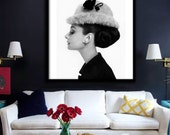 Audrey Hepburn Poster PRINTABLE FILE - avl in square & rectangle, Fashion art, Fashion icon, Wall poster, Breakfast at Tiffanys, Pop art