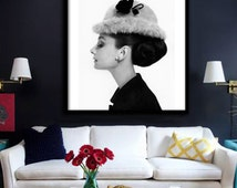 Audrey Hepburn Poster PRINTABLE FILE - avl in square & rectangle, Fashion art, Fashion icon, Breakfast at Tiffanys, instant download