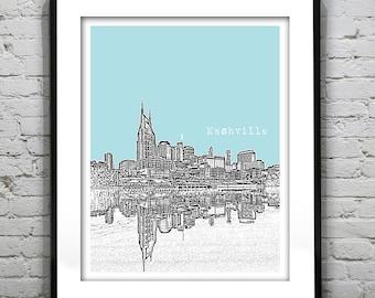 Nashville Tennessee TN Poster Art Print