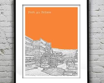 Port Au Prince Haiti Poster Art Print Skyline