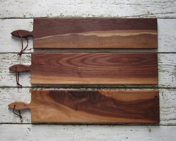 26 inch- French Loaf Bread Board- Walnut Unique Colors Variations One of a Kind