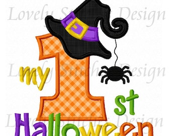 My 1st Halloween Applique Machine Embroidery Design NO:0235