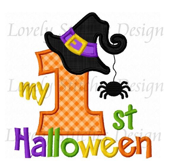My 1st Halloween Applique Machine Embroidery Design NO:0235