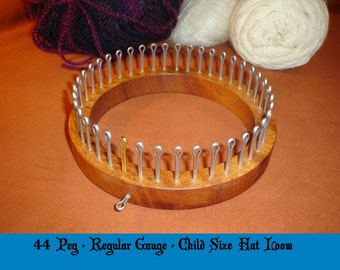 Child Size (2-6 yrs) Hat Knitting Loom  - Your choice of Gauge  - Cottage Looms board