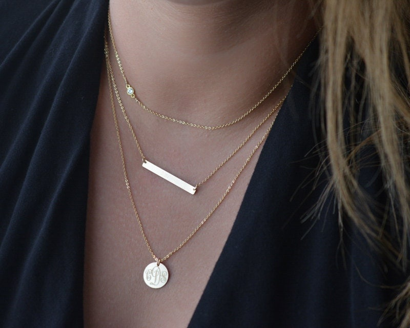 layered necklace set delicate gold layer necklaces by foressti