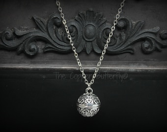 Silent Hill 3 Inspired - Cheryl Heather Mason Pendant & Aglaophotis Crystal Necklace Cosplay Antique Silver with Red Glass Bead- 6140273