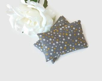 Lavender Sachets, Scented Sachets, Set of 2 Lavender Sachets, Dried Lavender filled Little Pillows, Eco Friendly Cotton