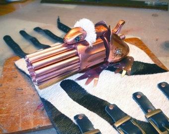 "Steampunk ""Copper Watusi Froggy"" wrist Gatling gun"