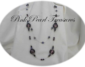 Purple Mist drape necklace
