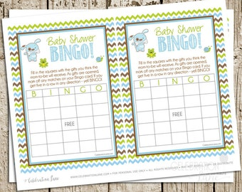 Frogs Snails and Puppy Dog Tails Baby Shower Bingo Game Printable Digital INSTANT DOWNLOAD by Celebration Lane
