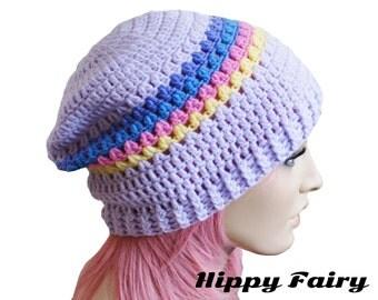 Slouch beanie,Pastel beanie, soft grunge,soft grunge clothing, pastel hat, pastel goth, pastel grunge