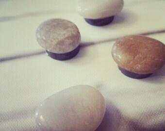 polished stone magnets