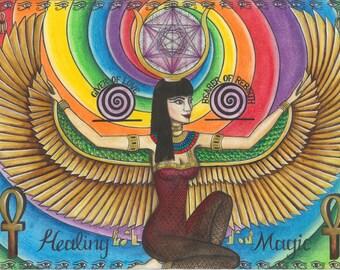 Magical Art Print for Sale ~ Isis - The Egyptian Goddess