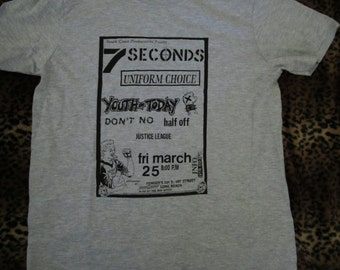 7 Seconds,Youth Of Today,Uniform Choice,Vintage Flyer T-Shirt