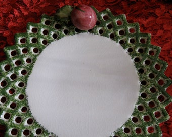 50% Off Paper Windows Vintage  Fruit Plate Pottery
