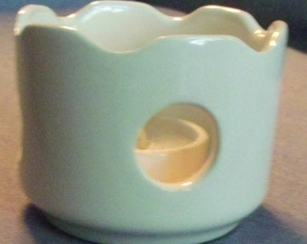 White Ceramic Candle Holder with candle