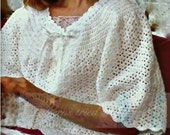 Bedjacket Crochet Pattern, Feminine Elegant, Elderly women gift, watch TV in bed, lingerie, Gift for bed ridden, constantly cold ladies