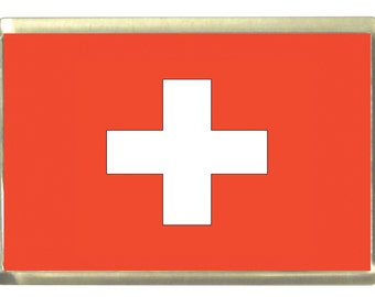 Swiss Flag Fridge Magnet 7cm by 4.5cm,
