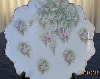 REDUCED PRICE - R & C Malmaison Flower Plate - Circa 1900's