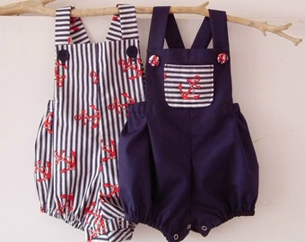 Baby Boy Newborn to 3T Baby Boy Rompers Baby Boy Clothing Nautical Romper Summer Anchor Sunsuit Toddler  Baby Shower Christening Baptism