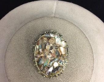 Vintage Abalone Shell Pin