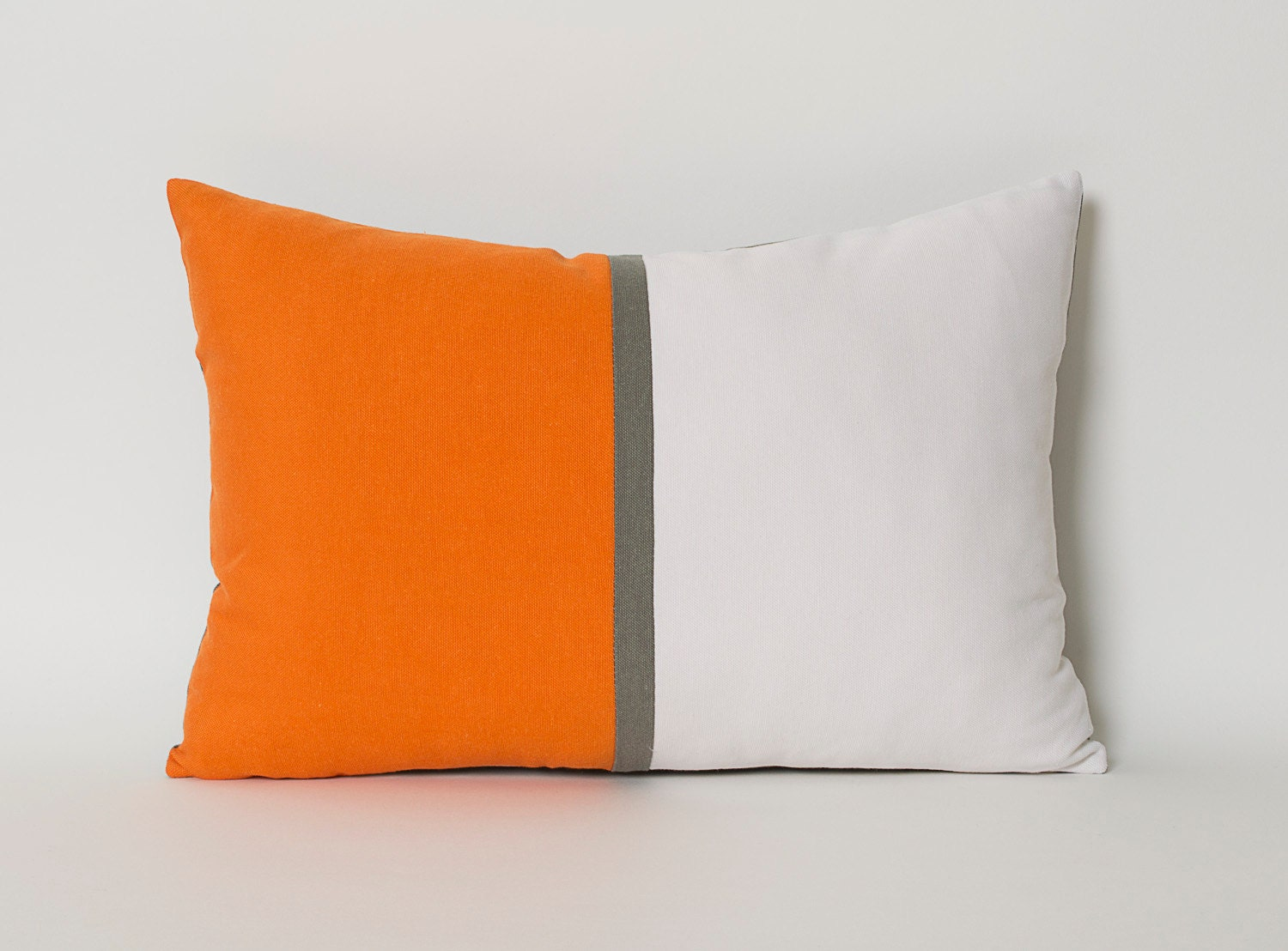Throw Pillow Covers White : Decorative Throw Pillow Covers Tangerine Orange White Gray