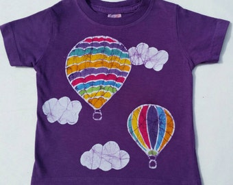 Hot Air Balloon Ride Batik Tee