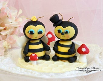 Bee wedding cake topper