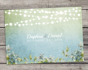 English Garden Wedding Invitation Printable DIY