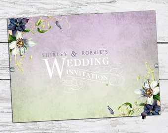 Lavender Garden Wedding Invitation Printable DIY