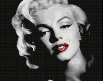 Marilyn Monroe Cross Stitch Pattern-People, Celebrities