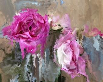 Art, Photography, Wall Art,Nature,Home Decor, Fine Art Print, Dreamy Pink, Green, Silver, White Black, Pink Painted Rose, Rose, Flower,Art