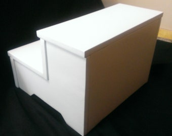 Two Step Stool with Back