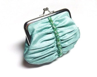 Sage Green 'Swarovski elements' beaded purse