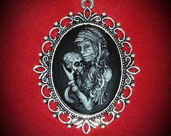 Gypsy Cameo - Day of The Dead - Girl Skull Cameo - Gypsy Girl - Sugar Skull