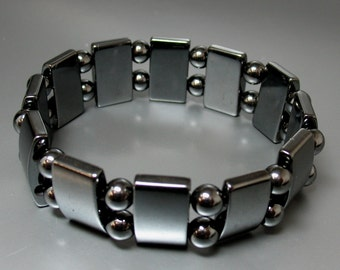 Magnetic Hematite Stretch Bracelet - Item 58977