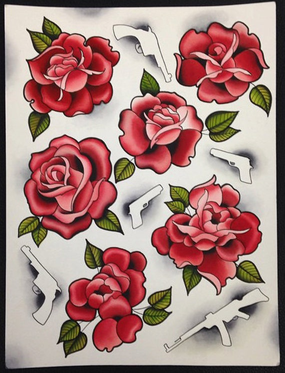how to draw american traditional rose