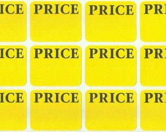 300 Price LABELS Removable Self Adhesive Pricing yellow color Tag Price STICKERS rectangular sticky paper Tags estate garage sale AVERY 6752