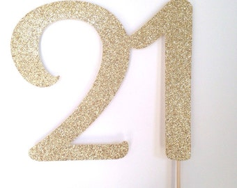 21 cake topper- other colors available