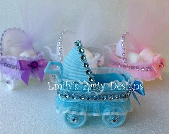 Baby Shower Carriage Favor, Baby Carriage, Baby Shower Stroller,