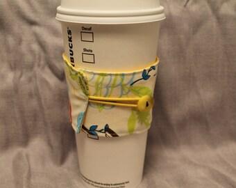 Flowers Reversable Coffee Cozy