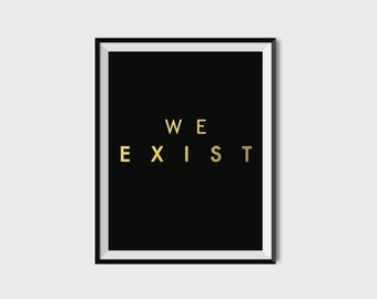 Arcade Fire We Exist Poster-Black
