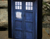 """Dr Who Tardis - Kindle Fire 7"""" inch Leather Book Cover Case"""